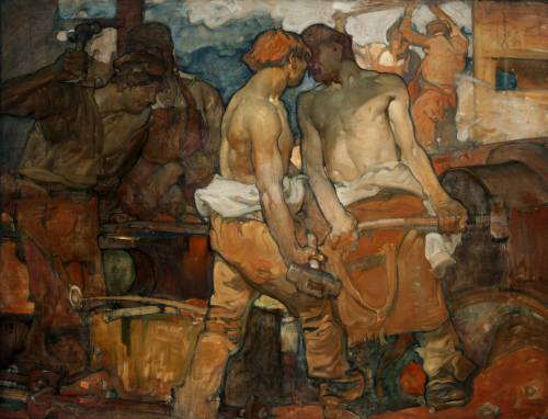 Photograph of the work of art: The Blacksmiths