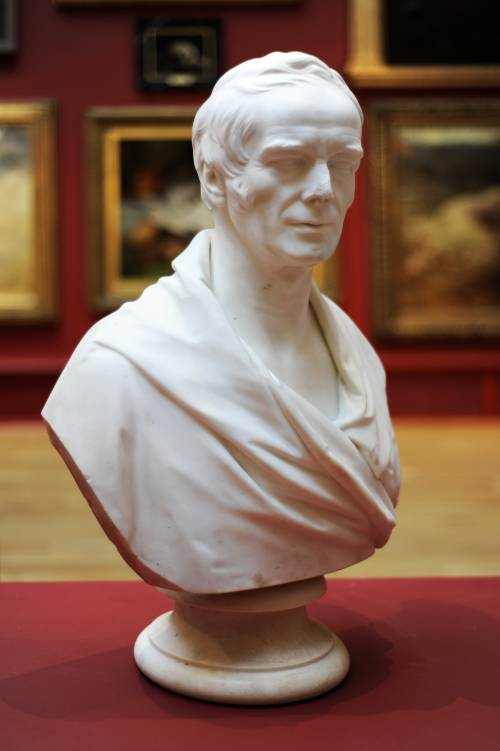 Photograph of the work of art: Bust of Michael Sadler