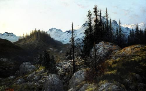 Photograph of the work of art: L'Aube, Souvenir des Alpes (Dawn, Souvenir of the Alps)