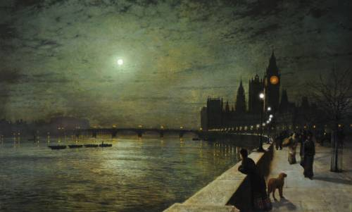 Photograph of the work of art: Reflections on the Thames, Westminster