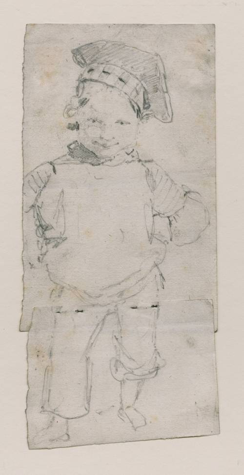 Photograph of the work of art: A Small Boy, aged Perhaps Two or Three, Wearing a Sailor's Cap. Possibly a portrait of Francis Walter Cotman