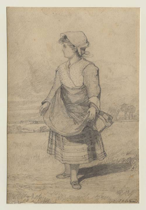 Photograph of the work of art: The Gleaner; Ann Cotman, the daughter of John Sell Cotman, aged about 12