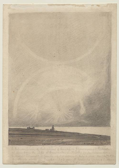 Photograph of the work of art: An Effect of Parhelion Seen from Hunstanton Lighthouse on July 6 1816