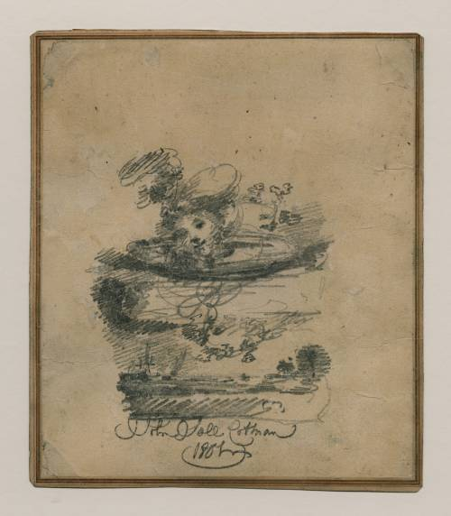 Photograph of the work of art: Head in the Clouds: A Design for a Frontispiece