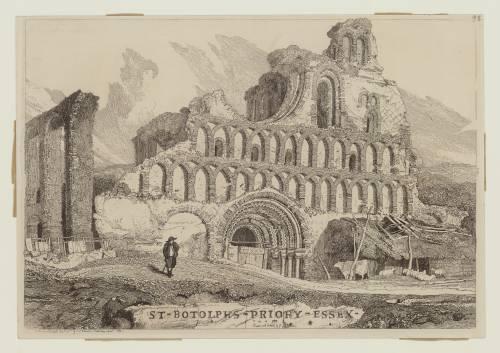 Photograph of the work of art: West Front of St Botolph's Priory, Colchester, Essex