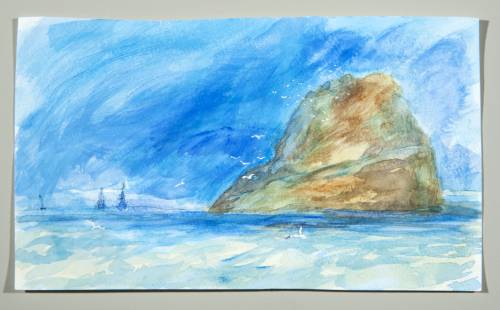 Photograph of the work of art: Bass Rock